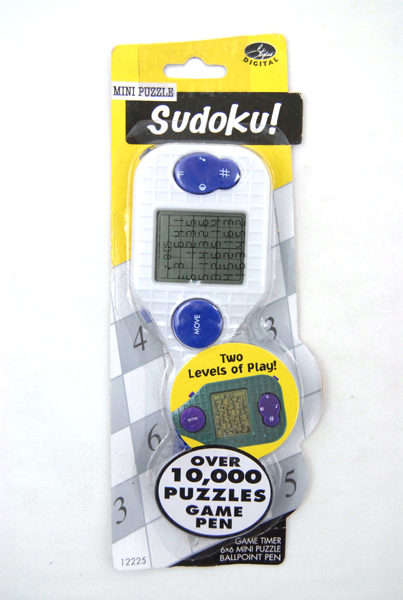 Stylus Digital Mini Puzzle Sudoku Game Pen (White)