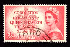 Australia 3 1/2 d Stamp Queen Elizabeth's  Coronation