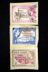 Lot of 3 Vintage Postmarked Gold Coast Stamps Ghana Independence 6th March 1957