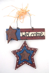 Holiday Home July 4th WELCOME  Star Plaque