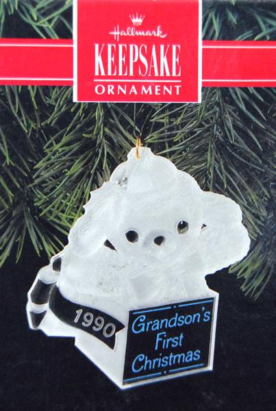 HALLMARK KEEPSAKE Ornament 1990 Grandson's First Christmas