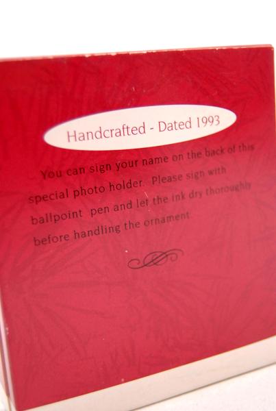 HALLMARK KEEPSAKE 1993 Star Teacher Photo Holder