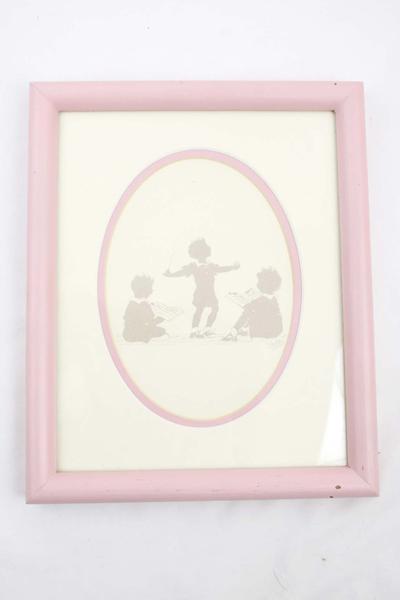 """9"""" x 11"""" FRAMED Oletta Wald Silhouette Art CHOIR CHILDREN"""