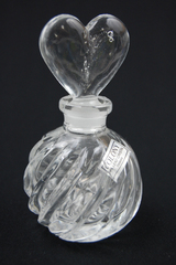 Colony Lead Crystal  Perfume Bottle With Heart Stopper