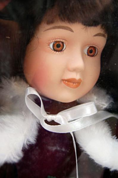 Limited Collection Porcelain Doll W/ Matching Ornament