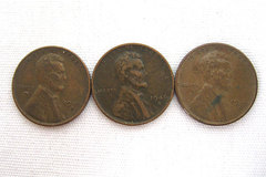 (Lot Of 3) 1946 S Wheat Pennies
