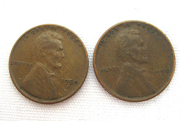 (Lot Of 2) 1950D Wheat Pennies