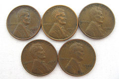 (Lot Of 5) 1952 D Wheat Pennies