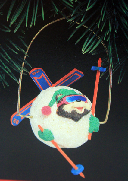 Hallmark Keepsake Ornament SKIING ROUND 1992