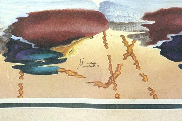 Peter Moustakos MALLARDS Framed Print (Signed) Ducks in Bamboo Frame