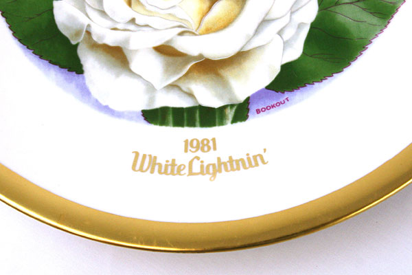 1981 Gallery Editions Limited And American Rose Society White Lightnin'