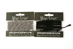 2 Cards Of Magic Scraps  Scrapbooking Yarn #526 Silver and #496 Onyx