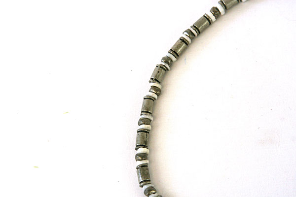 """18.5"""" KB Silvertone And White Bead Necklace"""