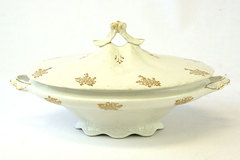 Edwin Knowles Porcelain Covered Dish
