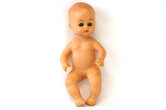 Vintage Child's Playmates Rubber Wetting  Doll