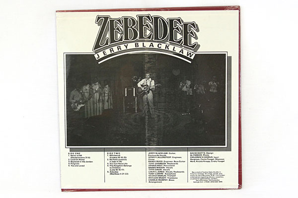 ZEBEDEE Jerry Blacklaw With Childrens Chorus Gospel Record
