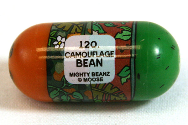 Camouflage Bean #120 MIGHTY BEANZ MOOSE SERIES 4