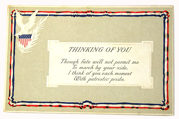 Liberty Series #224 Postcards Set of 2 - Thinking Of You / Greetings