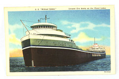 C.T. American Art Postcard - S.S. Wilfred Skyes - OC-H1325