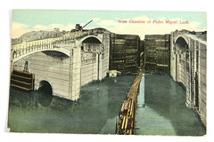 West Chamber of Pedro Miguel Lock Postcard