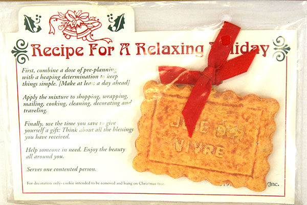Roman, Inc Recipe For A Relaxing Holiday 1997 Rectangle Cookie Ornament