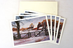 1992 Artscene 5 Blank Greeting Cards - First Snow by Barbara Olds
