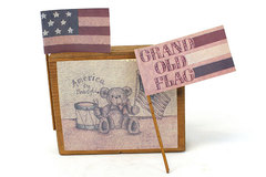 Sarah's Attic America The Beautiful Display Block #2 Grand Ole Flag