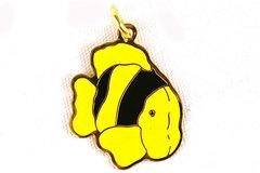 "1"" Yellow Clown Fish Enamel Pendant"