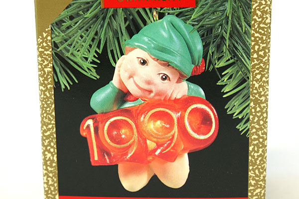 1990 Hallmark Keepsake Magic Light Elf of The Year Ornament