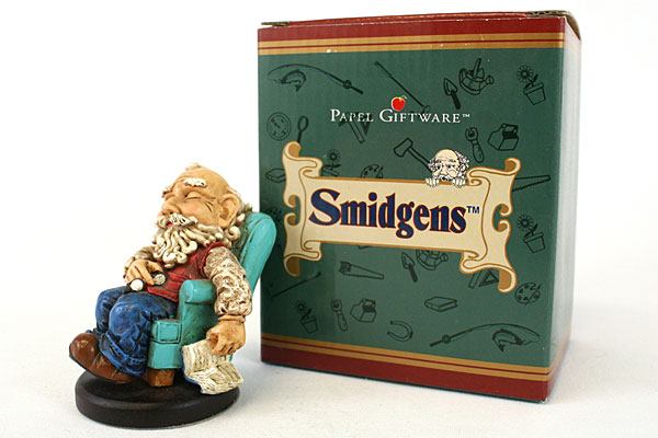 Smidgen Collectible Wee Folk HARRY Time To Unwind