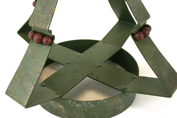Papel Giftware Green Metal Christmas Tree Votive Candle Holder Kathy Sulewski
