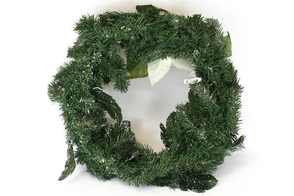 1991 Enesco White Poinsettia Wreath