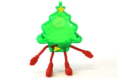 Bendable Plastic Hollow Christmas Tree Candy Holder