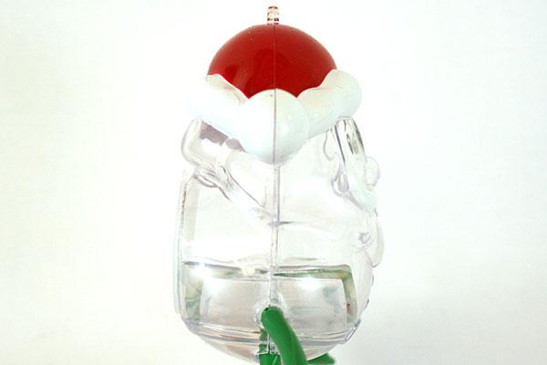 Plastic Hollow Santa Candy Holder