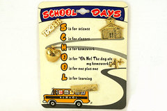 Roman, Inc. School Days 5 Pin Set New On Display Card