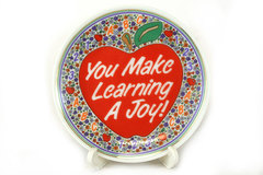 Decorative Enesco 1992 You Make Learning A Joy Porcelain Gift Plate #249149