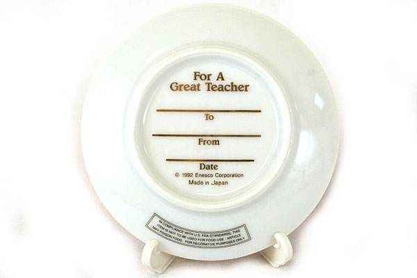 Decorative Enesco 1992 You Make Learning A Joy Porcelain Gift Plate #249149