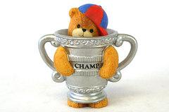 CHAMP 1994 Lucy & Me Enesco Porcelain Bear with Cap Figurine