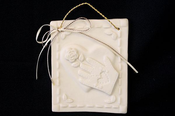 KB Design Inc Porcelain Glove with Ribbon Ornament