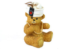 Enesco Chapeau Noelle Carrie Bear with Toque and Veil Hat Figurine 1994 LE