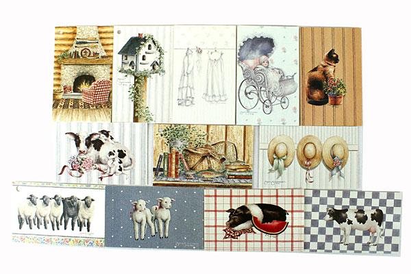 Lot of 12 Heartprint Inc Cards 1986-1991 Artwork by Jan Jameson