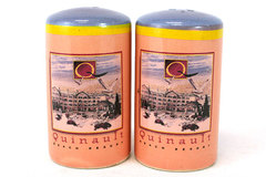 Set of Vintage Ceramic Quinault Beach Resort Salt And Pepper Shakers