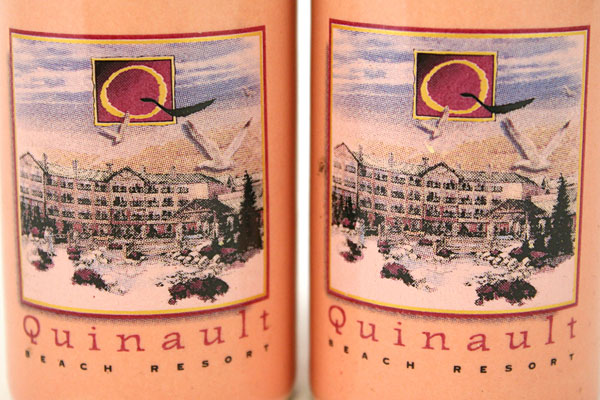 Set of Vintage Ceramic Quinault Beach Resort Salt And Pepper Shakers