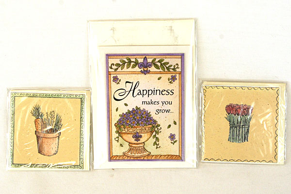 Papel Gardenscape Happiness Makes You Grow Magnet w/ 6 Mini-Cards & Packets
