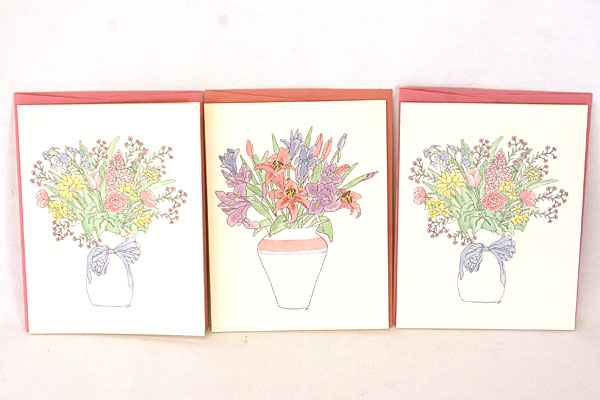 Lot of Mother / Grandmother / Sister MAGNETS with Floral and Mini Seed Cards