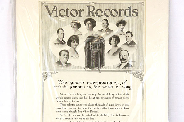 Vintage Original Victor Records Magazine Ad. March 1916