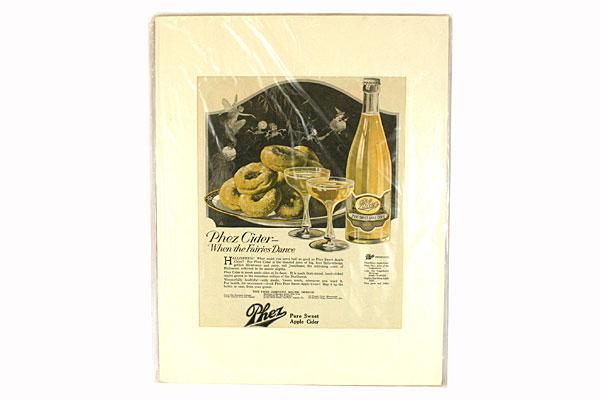 Vintage Original Phez Apple Cider Magazine Ad. Oct. 1920