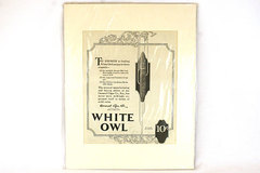 Vintage Original White Owl Cigar  Magazine  Ad. March 1921