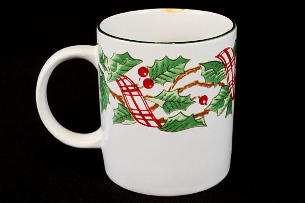 Mervyn's Majesticware Holiday Ribbon Stoneware Mug (As-Is)