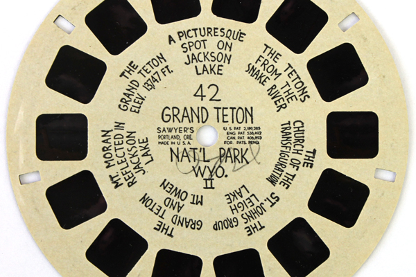 1940 View Master Reel #42 Grand Teton Nat'l Park Hand Lettered Buff